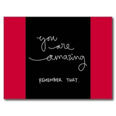 YOU ARE AMAZING REMEMBER THAT MOTIVATIONAL ENCOURA POSTCARD  #cc