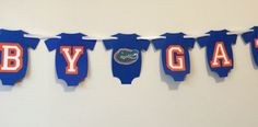 Florida Gator inspired baby shower banner