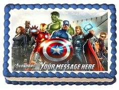 THE AVENGERS Heros Edible image Cake topper by SweetiesCakeToppers
