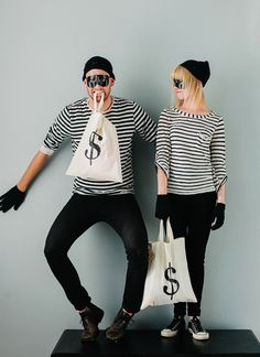 Easy Last-Minute Costume Ideas For Adults, love the bank robber idea. Very simple and recognizable!