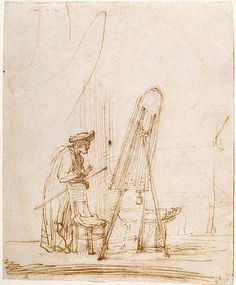 Artist in His Studio - Rembrandt  - Completion Date: 1633