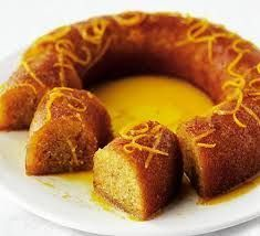 & saffron syrup cake The citrus syrup makes for a wonderfully moist cake - great for afternoon tea or a dinner-party dessertThe citrus syrup makes for a wonderfully moist cake - great for afternoon tea or a dinner-party dessert Delicious Cake Recipes, Bbc Good Food Recipes, Yummy Cakes, Sweet Recipes, Cooking Recipes, Greek Sweets, Greek Desserts, Golden Syrup Cake, Saffron Cake