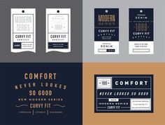 Tag System (Modern Series) /// by Steve Wolf Tag Design, Ticket Design, Name Card Design, Label Design, Layout Design, Logo Inspiration, Packaging Design Inspiration, Hierarchy Design, Typography Design