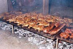 Típico asado argentino.