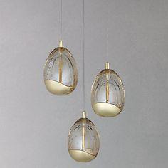 Buy John Lewis 3 Droplet LED Pendant Ceiling Light, Gold Online at johnlewis.com