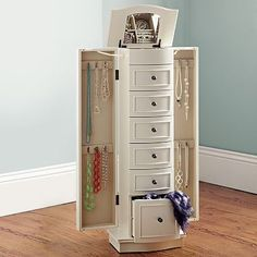 Chelsea Jewelry Armoire #potterybarnteen this would be super helpful with all the jewelry I have just lying around