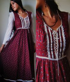 Isn't she lovely? Gunne Sax dresses from the 70's; I especially loved the prairie-hippie style.