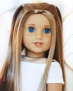 Kenna☁️Happy Father's Day to all the amazing Dads out there and to all the… - American Girl Dolls Casa American Girl, American Girl Doll Room, Custom American Girl Dolls, American Girl Doll Pictures, American Girl Crafts, American Dolls, Peinados American Girl, American Girl Hairstyles, American Girl Outfits