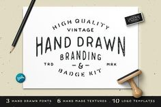 Hand Drawn Branding & Badge Kit by James Lafuente on @creativemarket