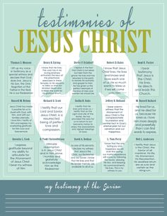 D&C 76 Testimonies of Jesus Christ - All Things Bright and Beautiful: Come Follow Me: Why is Jesus Christ Important?