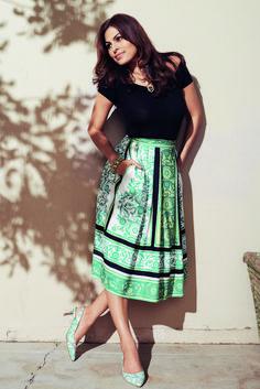 The Eva Mendes Olivia Bodysuit and Maddie Skirt