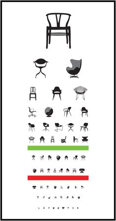 My kind of eye chart!-) Eye Exam digital print at Blue Art Studio by Joel Pirela ~ via The Designer Pad Modern Chairs, Modern Furniture, Furniture Design, Furniture Sketches, Retro Chairs, Pvc Furniture, Smart Furniture, Classic Furniture, Furniture Styles