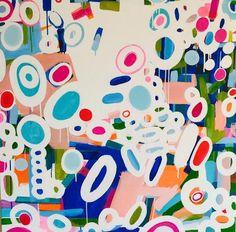Jarbo Series No. 14 by karlinmeehanstudios on Etsy Happy Art, Abstract Paintings, Studios, Kids Rugs, Unique Jewelry, Colors, Handmade Gifts, Pretty, Vintage
