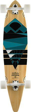 """Goldcoast Neptune Complete Longboard - 9x40 by GoldCoast. $175.95. Goldcoast Neptune Complete Longboard. The ocean is a great place to get recharged, both physically and mentally. The Neptune is a tribute to that revitalization experience. The Neptune is a 40"""" bamboo pintail deck, with """"W"""" concave for a comfortable ride, with excellent control."""