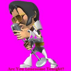 Animation Gif Graphics | Singing Elvis ~ Animated Gif