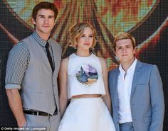 Jennifer Lawrence was joined by co-stars Liam Hemsworth and Josh Hutcherson