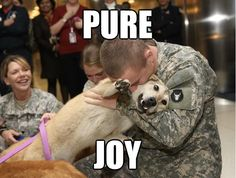 Pure. Joy. #sweet #cute #pets #dogs #military #service