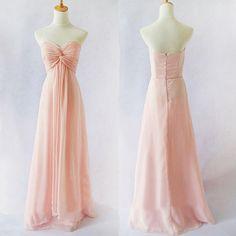 Simple Pale Pink Bridesmaid Dresses Princess Beach Wedding