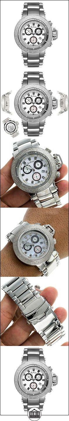 Joe Rodeo Diamante reloj de hombre-Razor Plata 4Ctw  ✿ Relojes para hombre - (Lujo) ✿