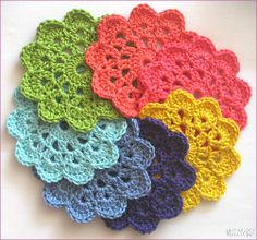Natas Nest: Crochet Coasters - beautiful I think same pattern as About.com
