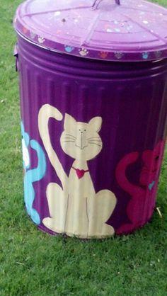 104 best painted trash cans images painted trash cans paint cans rh pinterest com