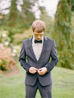 a velvet tuxedo for the groom