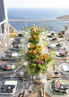 FLERIA flowers | wedding in Mykonos, summer 2016. Table decoration. Colorful, wild flowers inspiration.