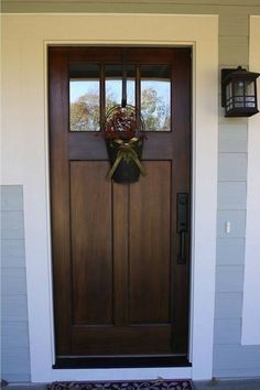 Front door color ideas to jazz up your exterior home decor. Choose from the best designs for 2020 and breathe new life into your door! Front Door Design, Front Door Colors, Colored Front Doors, Entrance Design, Front Door Entrance, Front Entry, Front Porch, Privacy Glass Front Door, Front Door With Glass