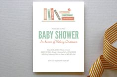 Book It Baby Shower Invitations by Heather Francisco at minted.com    @Melinda Wilkinson