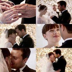 The wedding 👰🏻 Fifty Shades Quotes, Fifty Shades Series, Fifty Shades Movie, 50 Shades Freed, Fifty Shades Darker, Christian Grey, Anastasia, Shades Of Grey Movie, Fifty Shades