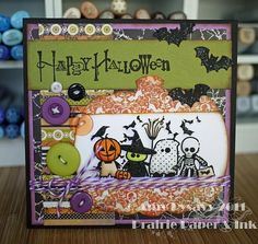 Card #4 from my 2011 Halloween Card Series by AmyR of Prairie Paper & Ink