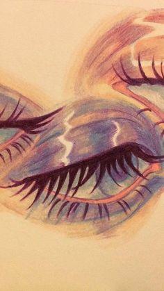 Pencil Art Drawings, Cool Art Drawings, Art Drawings Sketches, Pretty Art, Cute Art, Pintura Hippie, Psychadelic Art, Funky Art, Wow Art