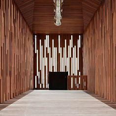 japanese batten screen | M57 Public Library | Javier Callejas Architecture Photography | Arte ...