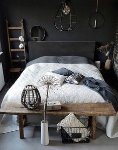 Elegantly Bold Dark Bedroom Ideas for Modern Home Furniture Layout, Bedroom Furniture, Bedroom Decor, Bedroom Storage, Bedroom Ideas, Furniture Placement, Warm Bedroom, Stylish Bedroom, Luxurious Bedrooms