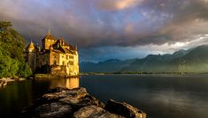 A Place by the Lake II - The Château de Chillon - an island castle on the shore of Lake Geneva, Switzerland.  An updated edit of one of my favorite photos incorporating some of what I have learned over the past 3+ years of travel photography.  I also used Aurora 2018 to bring out some additional details from the original edit.