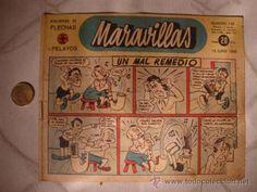 ANTIGUO COMIC ORIGINAL MARAVILLAS, BIBLIOTECA DE FLECHAS Y PELAYOS, AÑO 1942, NUM. 145