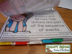 Organize and store objectives in a binder --Crockett's Classroom