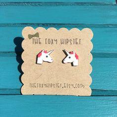 Emoji Unicorn Stud Earrings