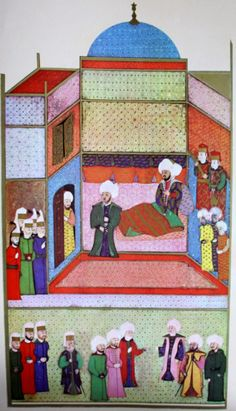 "OĞUZ TOPOĞLU : çelebi sultan mehmed'in ölümü, hünername nakkaş os. From Hünername muralists Osman with the drawing ""Çelebi Sultan Mehmed hiding from the soldiers of death."" miniature."