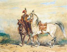 """""""Horse"""", 1874, watercolour on cardboard, 35 x 44.5 cm, private collection"""
