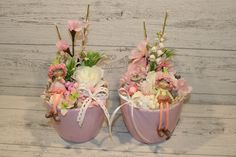 Small Centerpieces, Diy Easter Decorations, Ikebana, Artificial Flowers, Seasonal Decor, Floral Arrangements, Diy Crafts, Wreaths, Seasons
