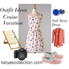 """""""Cruise Vacation Outfit Idea - Sail Away Dress"""" by mstravesura on Polyvore"""