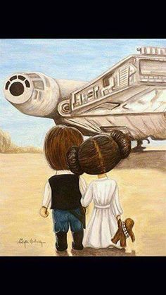 Pinterest: renatafuck Star Wars Love, Star Trek, Star Wars Fan Art, Lego Star Wars, Han And Leia, Princesa Leia, Starwars, Star Wars Schlafzimmer, Star Wars Party