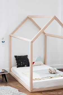 bonnesoeurs shop design lit maison avec matelas Kids Rooms, Kids Bedroom, Kid Beds, Home Improvement Projects, Midcentury Modern, Bed Frame, Montessori, Toddler Bed, Barn