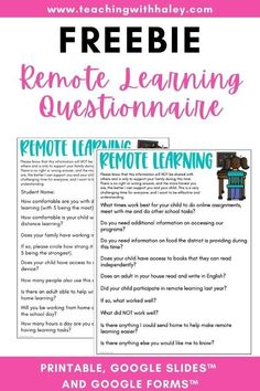As we navigate more remote learning, it's important that we know exactly what our students have at home and how to support them.This 2-page form includes questions for parents about their experience, internet access, and more.