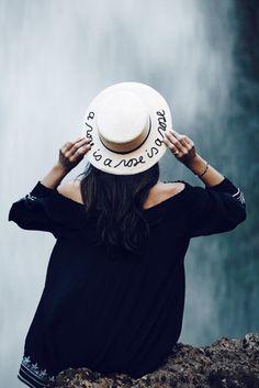 Brigitte - A Rose is a Rose is a Rose  Hemp   Cotton Boater Hat eb191162622a
