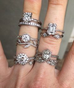 Uniquely Beautiful Wedding Rings by Cathy Waterman ~ so many rings, so little time...
