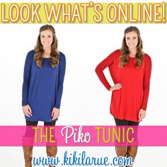 Piko tunics with some leggings and boots.....cute and comfy