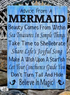 advice from a mermaid sign, mermaid beach signs, mermaid decor, advice mermaid sign, mermaids wall decor