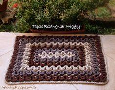 EU TAMBÉM CROCHETO...: Tapete Retangular Wiggly Tradicional